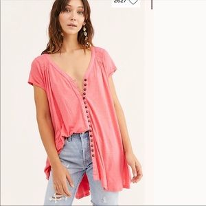 NWT Free People Oversized Highland Tee T Shirt
